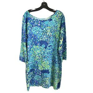 Lilly Pulitzer Marlowe Dress Sea Blue Lilly's XL